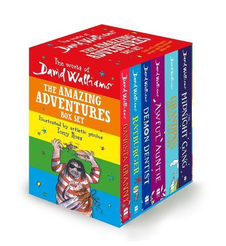 The World of David Walliams: The Amazing Adventures Box Set: Gangsta Granny; Ratburger; Demon Dentist; Awful Auntie; Grandpa's Great Escape; theMidnightGang