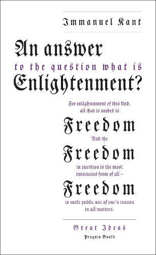 An Answer to the Question: 'WhatisEnlightenment?'