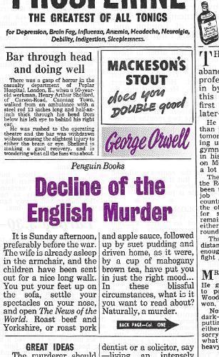 Decline of theEnglishMurder