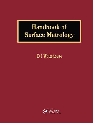 Handbook ofSurfaceMetrology