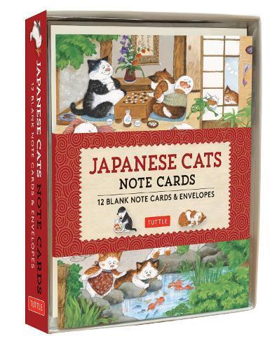 Japanese Cats Note Cards: 12 Blank Note CardsandEnvelopes