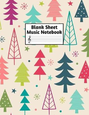 Blank Sheet Music Notebook: Easy Blank Staff Manuscript Book Large 8.5 X 11 Inches Musician Paper Wide 12 Staves Per Page for Piano, Flute, Violin, Guitar, Trumpet, Drums, Cello, Ukelele and other Musical Instruments - Code:A44361