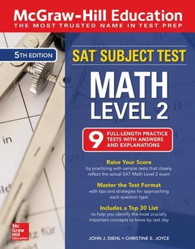 McGraw-Hill Education SAT Subject Test Math Level 2, Fifth Edition by John  Diehl