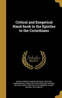 Critical and Exegetical Hand-Book to the Epistles totheCorinthians