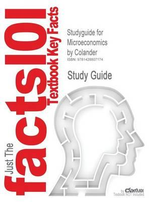 Studyguide for Microeconomics by Colander, ISBN 9780072549362