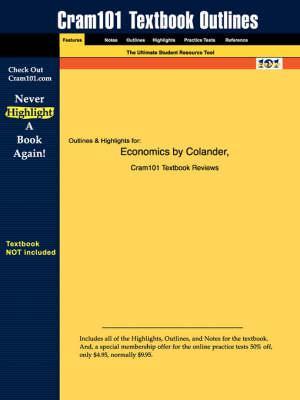 Studyguide for Economics by Colander,ISBN9780072549027