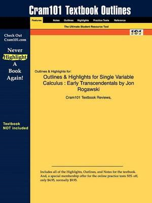 Studyguide for Single Variable Calculus: Early Transcendentals by Rogawski, Jon, ISBN 9781429210751