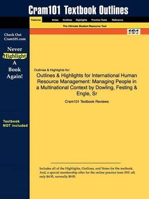 Studyguide for International Human Resource Management: Managing People in a Multinational Context by Dowling,ISBN9780324580341