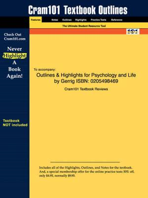 Studyguide for Psychology and Life by Gerrig, ISBN 9780205534272