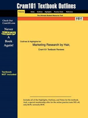 Studyguide for Marketing Research by Hair,ISBN9780072830873