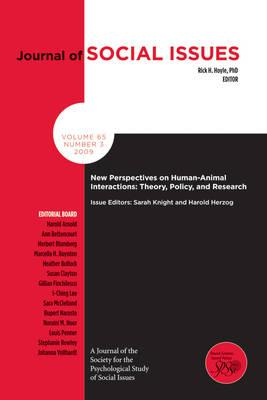 New Perspectives on Human-animal Interactions: Theory, Policy and Research