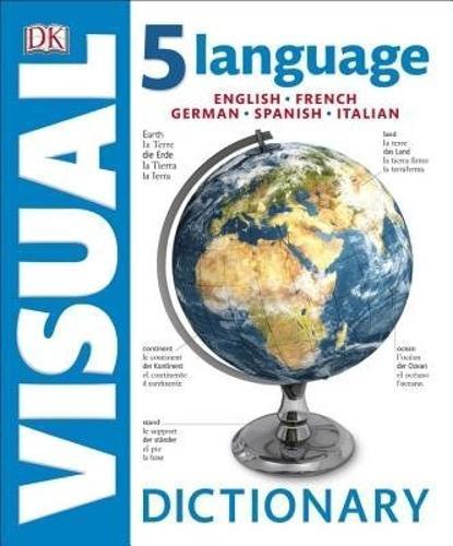 5 Language Visual Dictionary: English, French, German,Spanish,Italian