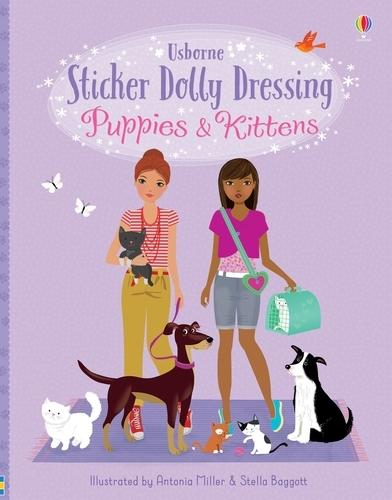 Sticker Dolly Dressing Puppies & Kittens
