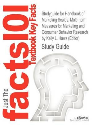 Studyguide for Handbook of Marketing Scales: Multi-Item Measures for Marketing and Consumer Behavior Research by (Editor),ISBN9781412980180