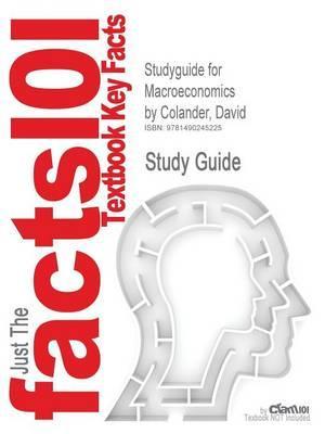 Studyguide for Macroeconomics by Colander, David, ISBN 9780077501860