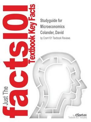 Studyguide for Microeconomics by Colander, David, ISBN 9780077715533