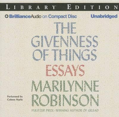 The Givenness of Things: Essays,LibraryEdition