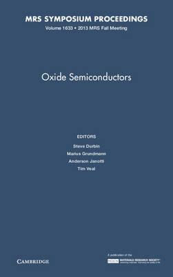 Oxide Semiconductors: Volume 1633