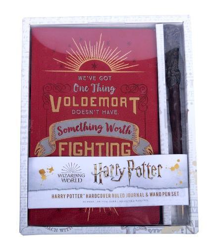 Harry Potter: Harry Potter Hardcover Ruled Journal and WandPenSet