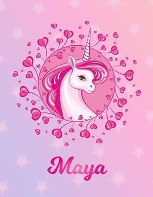 Maya: Unicorn Large Blank Primary Sketchbook Paper - Pink ...