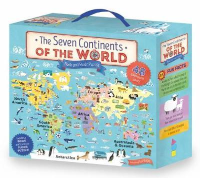 The Seven Continents of the World Book andFloorPuzzle