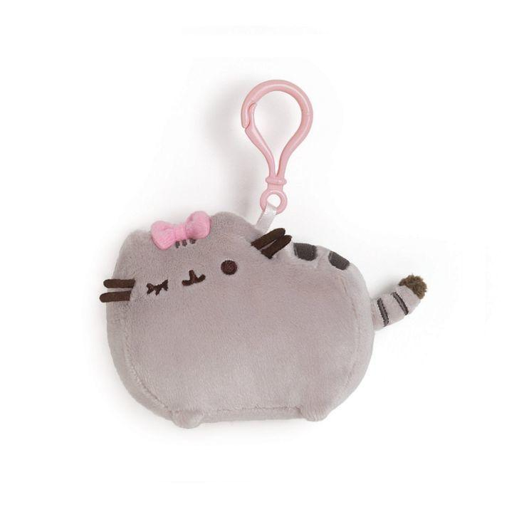 Pusheen with Bow (backpackclip,11.5cm)