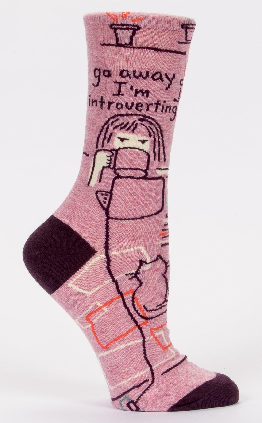 Ladies Socks: Go AwayI'mIntroverting
