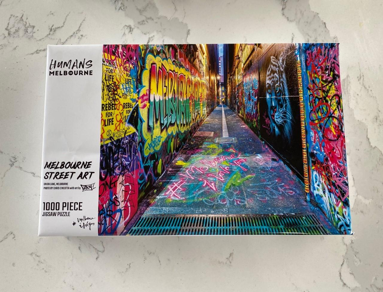 Humans in Melbourne Jigsaw Puzzle: Melbourne Street Art (1000 pieces)