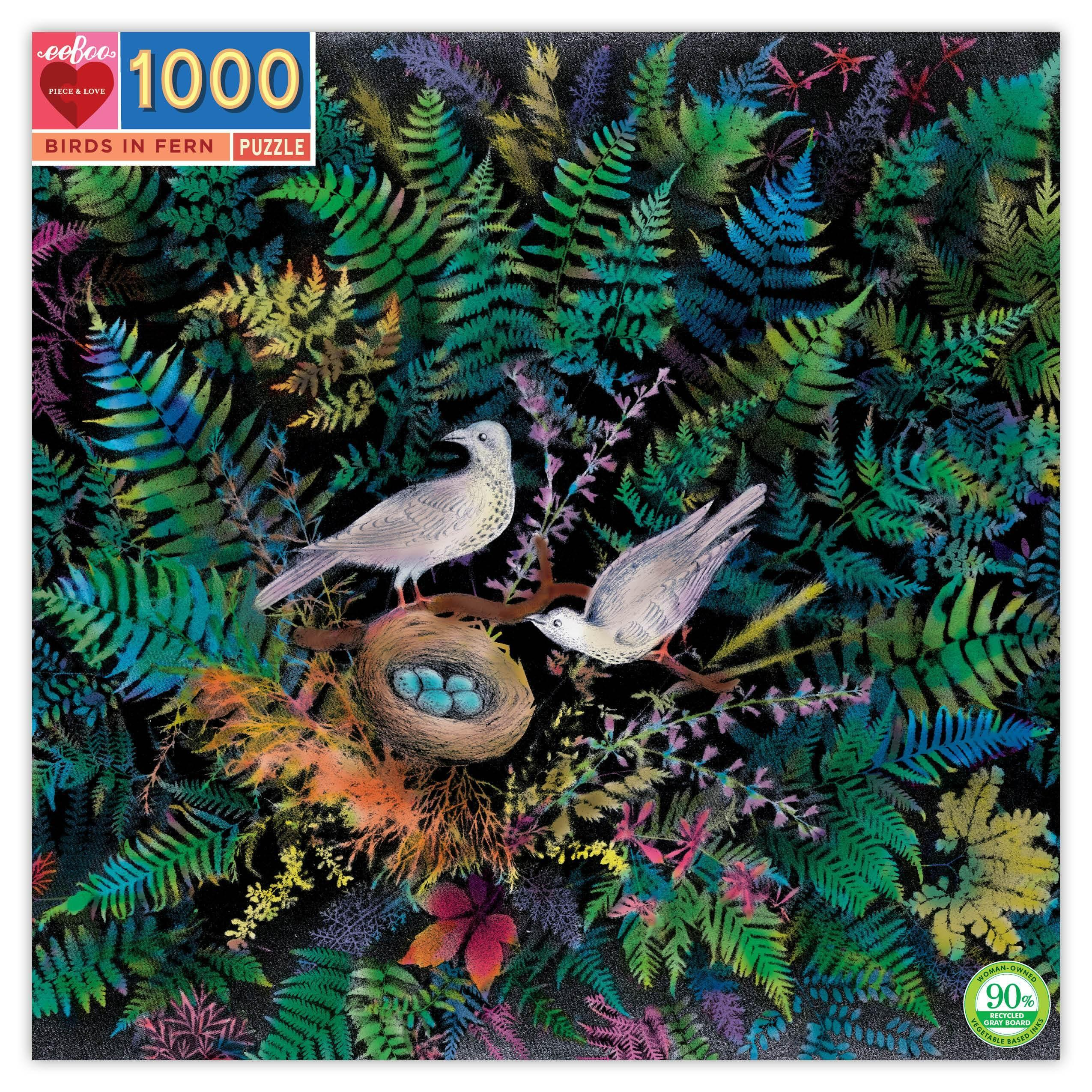 Birds in Fern Jigsaw Puzzle (1000 Piece)