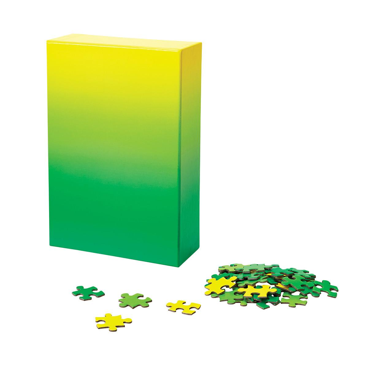 Gradient Puzzle: Green Yellow(500Pieces)