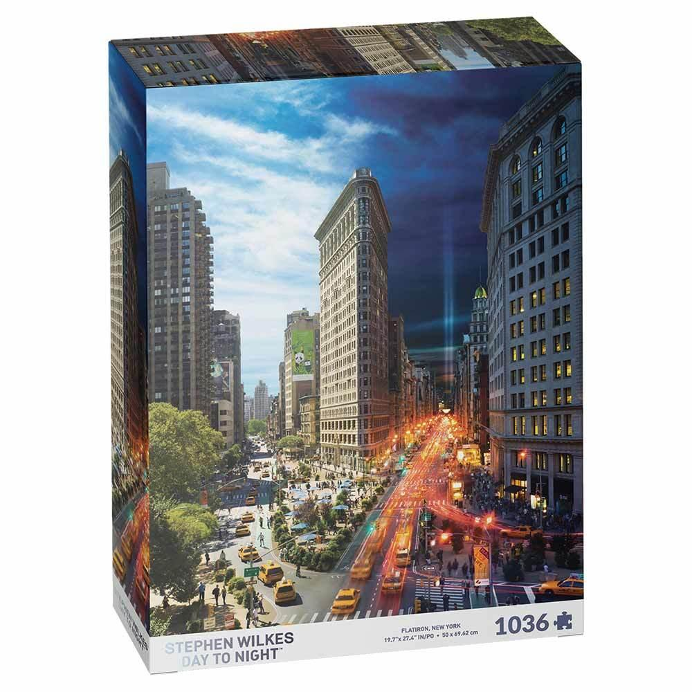 Stephen Wilkes Day to Night Flatiron, New York Jigsaw Puzzle(1000pieces)