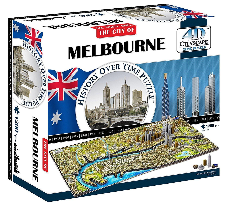 Melbourne 4D Cityscape Jigsaw Puzzle(1200Pieces)