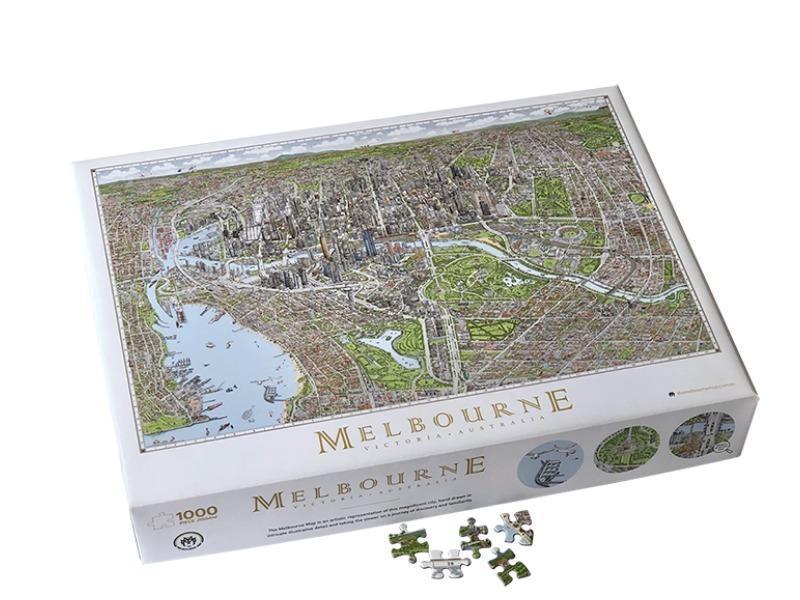 Jigsaw Puzzle: Melbourne Map(1000pieces)