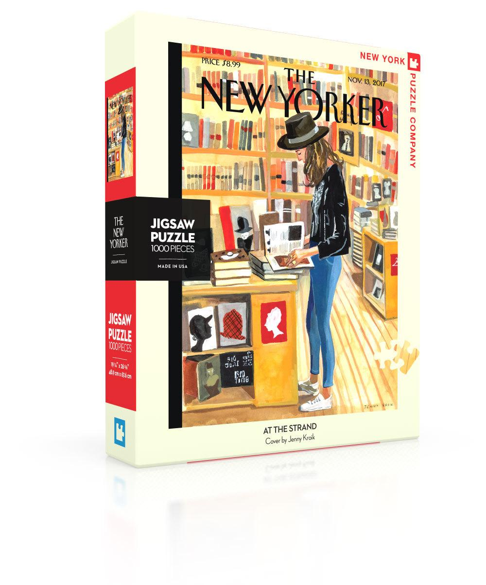 New Yorker Jigsaw Puzzle: At The Strand Cover (1000 pieces)