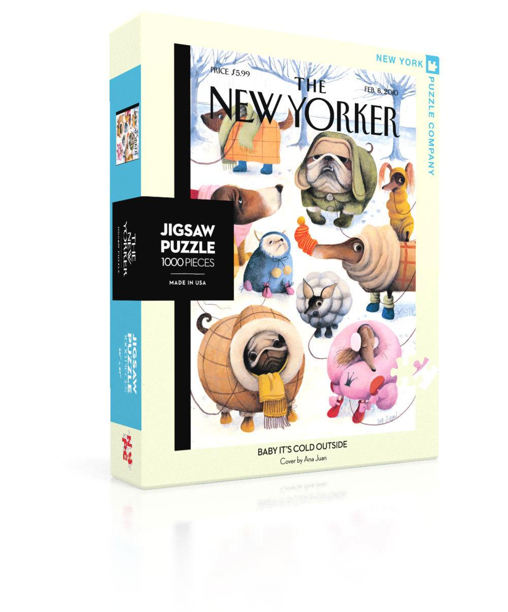 New Yorker Jigsaw Puzzle: Baby It's Cold Outside Cover (1000 pieces)