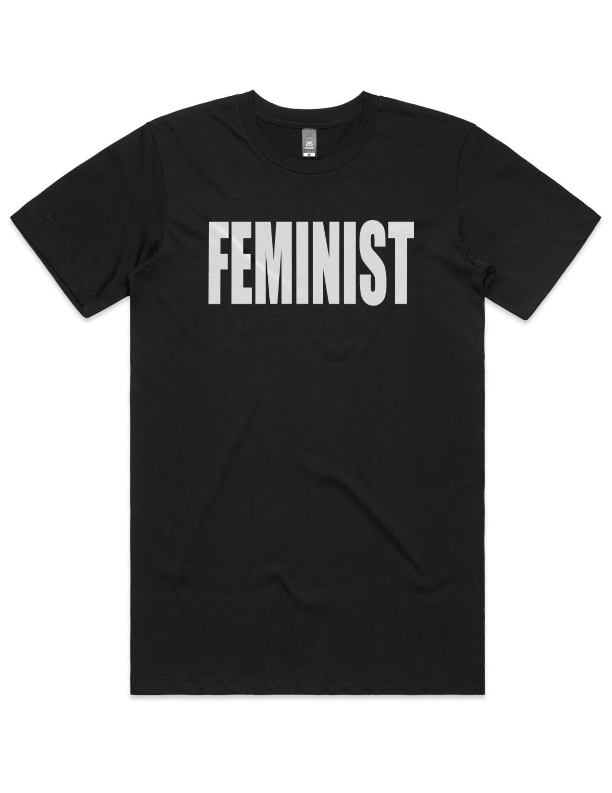 Feminist T-Shirt Black(Large,Unisex)