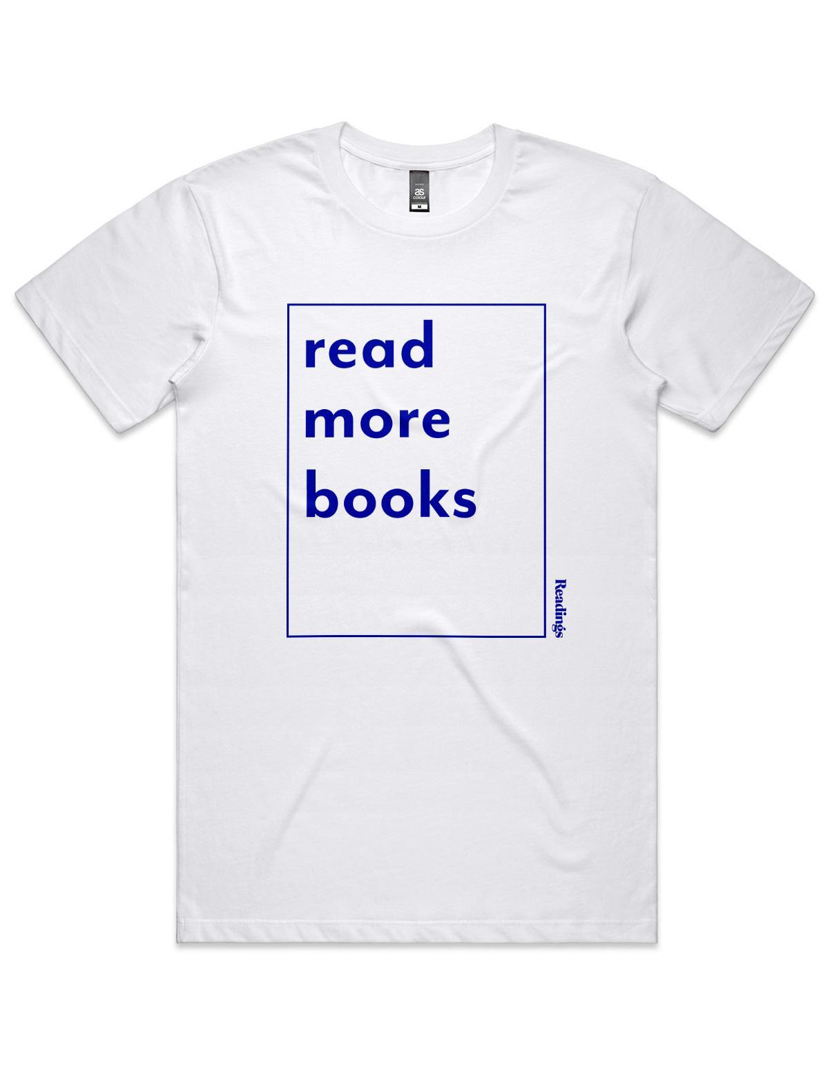 Read More Books T-Shirt White(Large,Unisex)