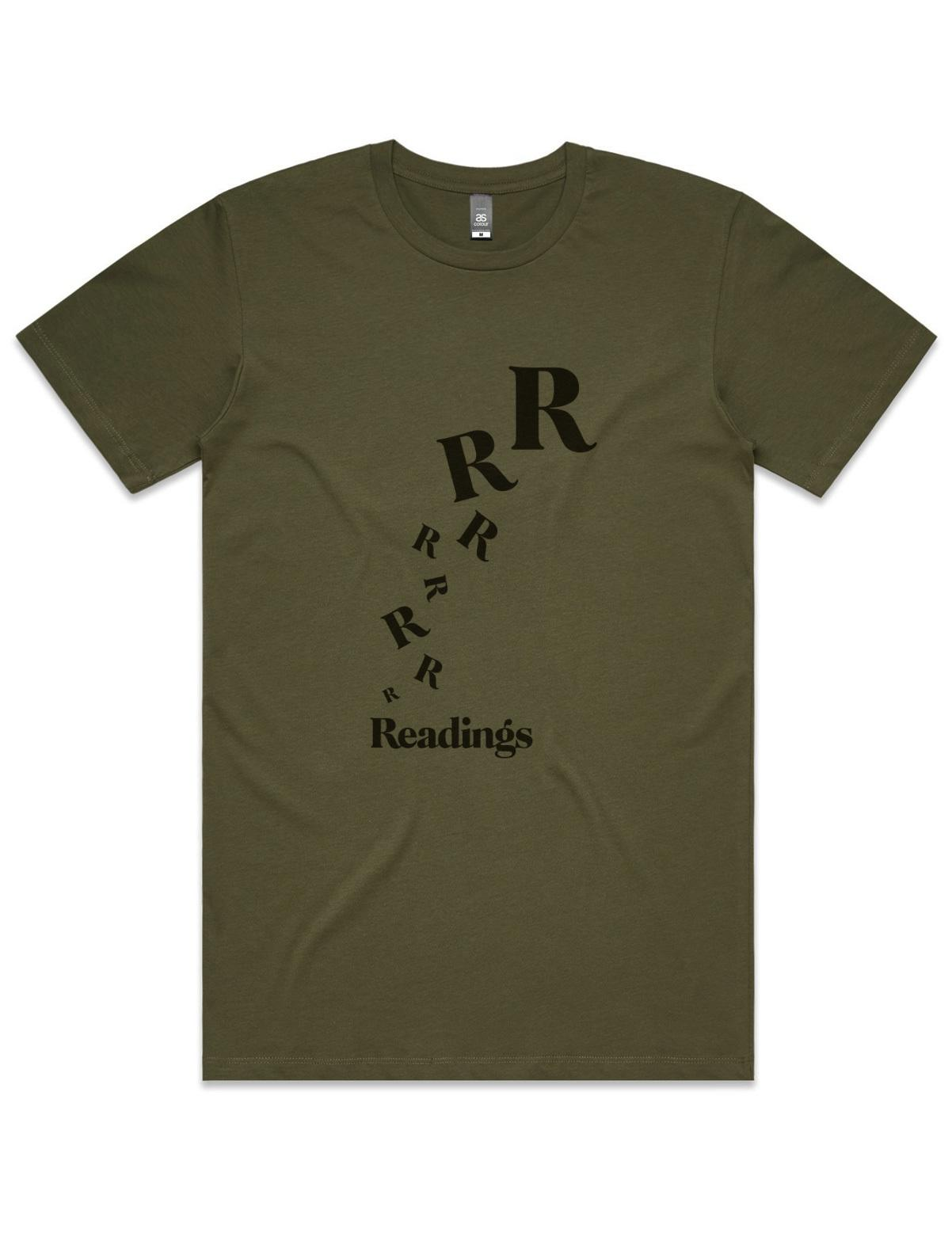 Flying Rs T-Shirt Army Green (Small, Unisex)