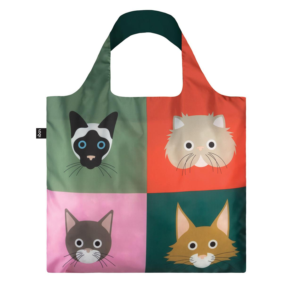 LOQI Shopping Bag: Cats and Dogs Collection-Cats