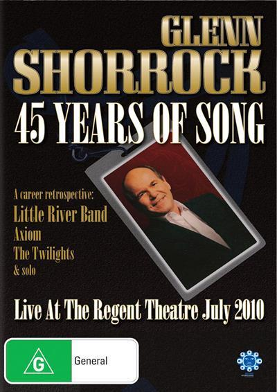 Forty Five Years Of Song Live At The Regent Theatre July 2010 Dvd
