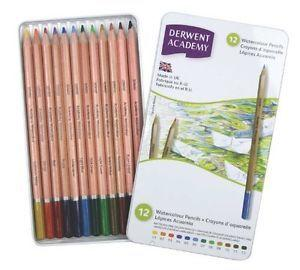 Derwent Academy Watercolour Colour Pencils (Pack of 12)