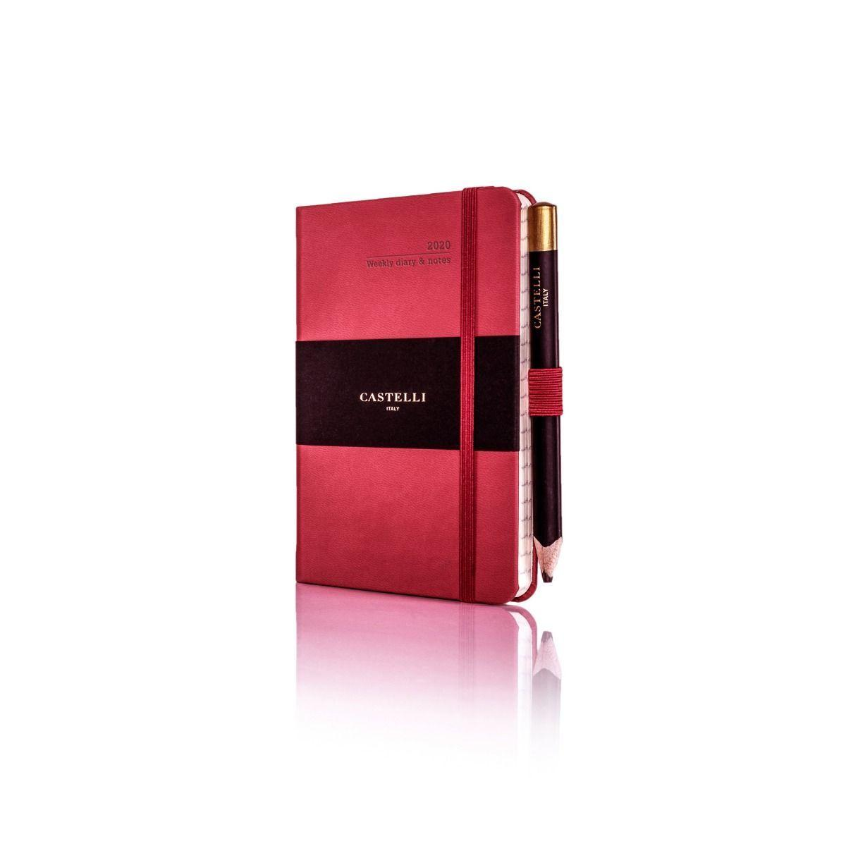 Tucson Pocket Weekly 2020 Diary Coral Red