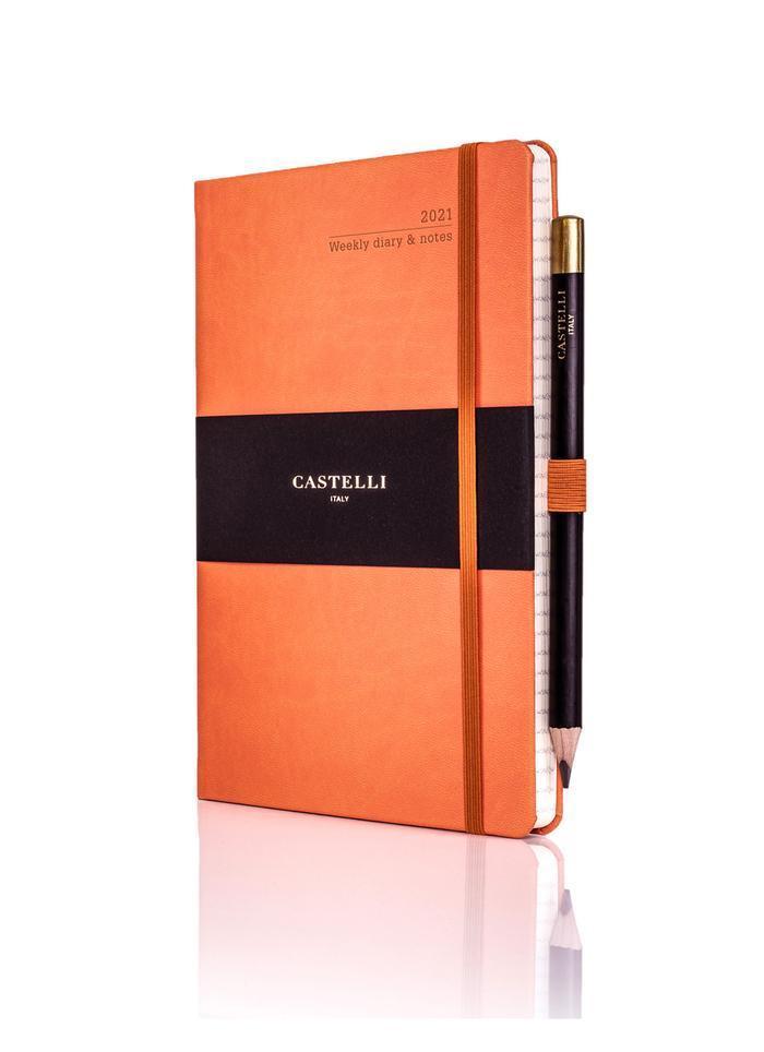 Castelli Weekly 2021 Tucson Diary(medium,orange)