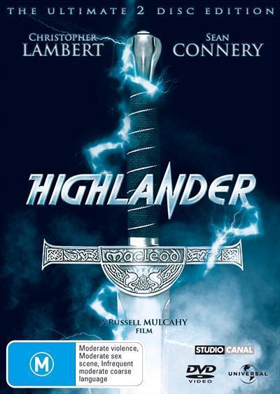 Highlander Se Dvd by Lambert Christopher, Roxanne Hart, Clancy Brown, Sean  Connery, Russell Mulcahy