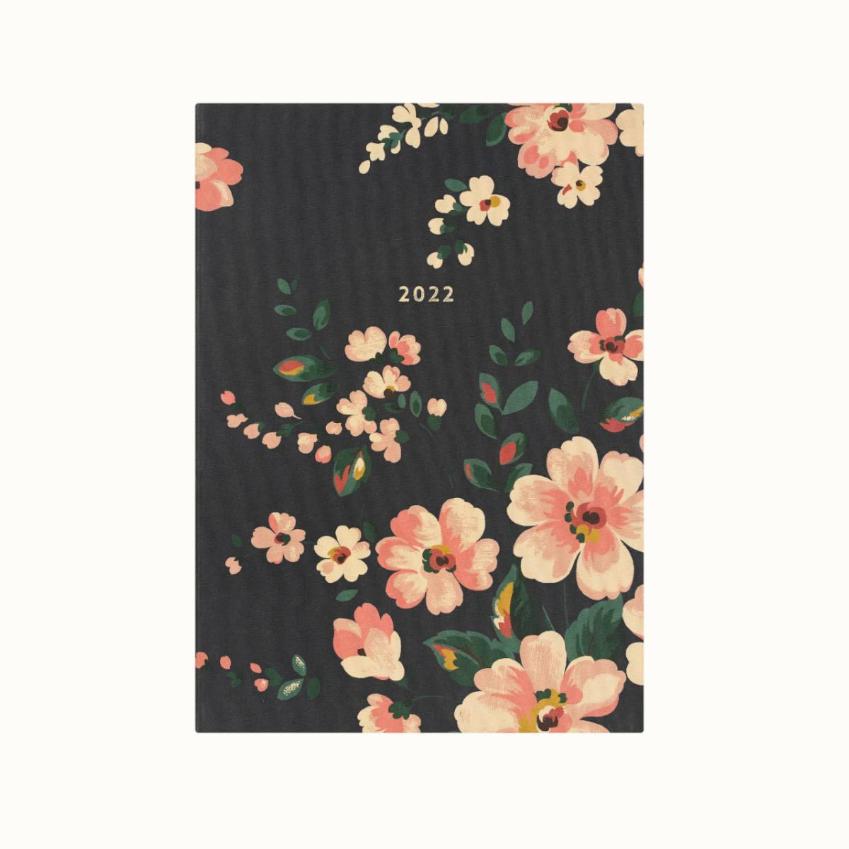 Cath Kidston A5 Linen Dark Floral Weekly 2022 Diary