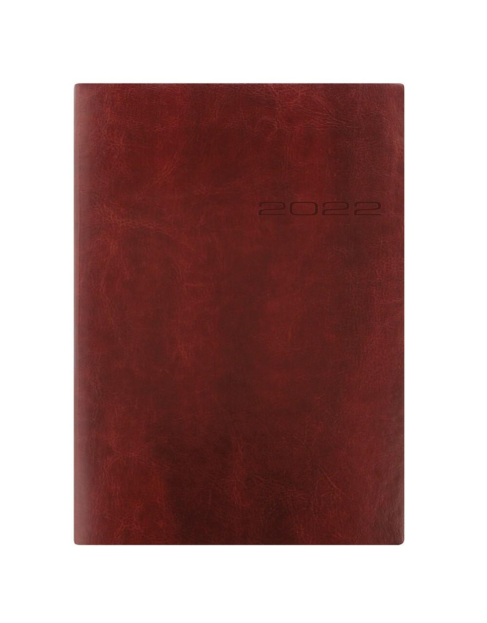 Letts Lecassa A5 Week to View Brown 2022 Diary