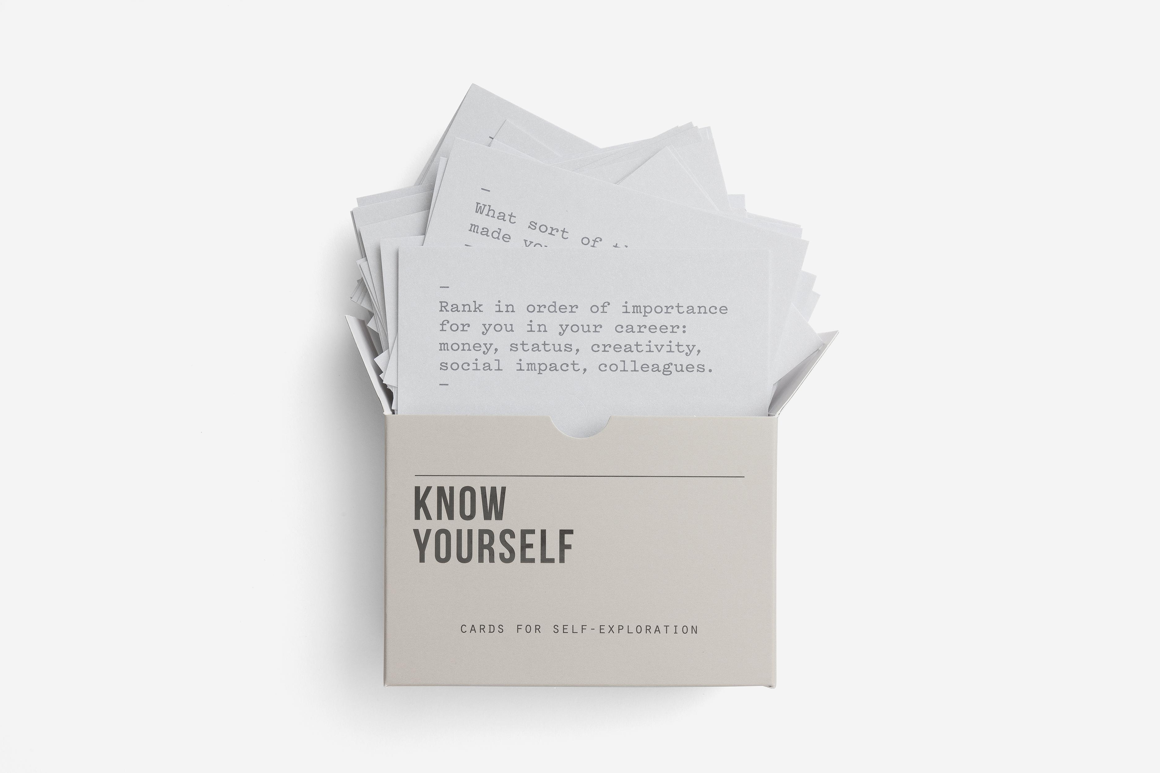 Know YourselfPromptCards