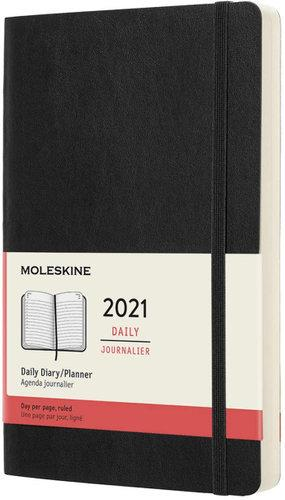 Moleskine Daily 2021 Diary (Soft Cover, Large,Black)