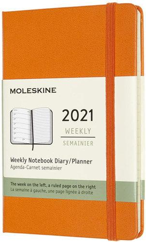 Moleskine Weekly 2021 Diary (Hard Cover, Pocket, Cadmium Orange)