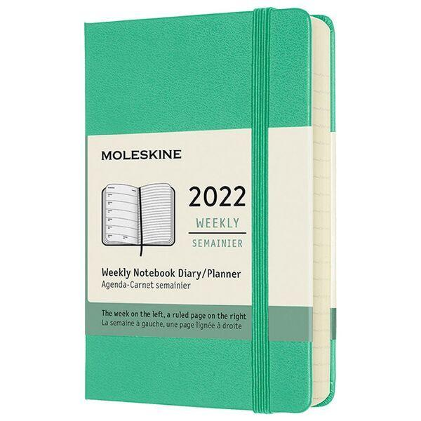 Hard Cover Pocket Weekly Ice Green 2022 Diary